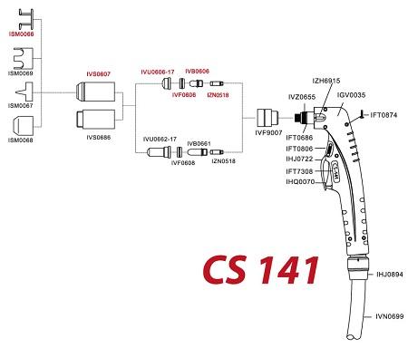 Схема резака «СВАРОГ CS 141».
