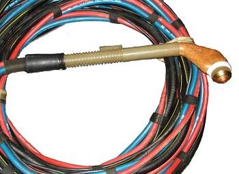 Плазмотрон и самодельный кабель-шланговый пакет.